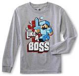 Youth Long Sleeve: Minecraft - Like A Boss T-Shirts