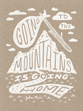 Muir Illustrated Quote Poster Serigraph by  Satchel & Sage