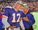 NFL Buffalo Bills Jim Kelly & Marv Levy 1995 Photo