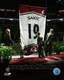 Colorado Avalanche Joe Sakic 2009 Jersey Retirement Ceremony Photo