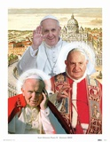 The Three Popes Print by  Kamili