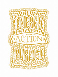 Venn by Pen: Energy, Purpose, Action Poster Póster por Satchel & Sage