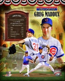 Greg Maddux Chicago Cubs MLB Hall of Fame Legends Composite Photo