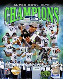Seattle Seahawks Super Bowl XLVIII Champions PF Gold Photo