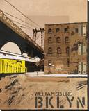 Williamsburg, Brooklyn Stretched Canvas Print by Mauro Baiocco