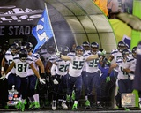 The Seattle Seahawks Team Introduction Super Bowl XLVIII Photo