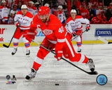 Detroit Red Wings Henrik Zetterberg 2013-14 Action Photo