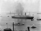 The S.S. Imperator in New York Harbor Photographic Print by A. Loeffler