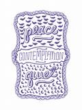 Venn by Pen: Peace, Quiet, Contemplation Prints by  Satchel & Sage
