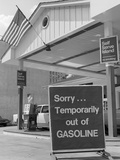 1970s Sorry Temporarily Out of Gasoline Sign During 1973 Opec Oil Shortage Crisis Photographic Print by H. Armstrong Roberts