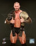 WWE Randy Orton with the WWE Heavyweight Championship Belts 2013 Posed Photo