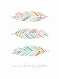 Birds of a Feather Poster Affiches par  Satchel & Sage