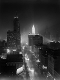 1950s Night Aerial Chicago Illinois Looking Down on Michigan Avenue Photographic Print by H. Armstrong Roberts