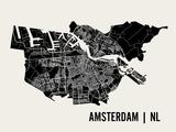 Eleganz in Amsterdam Poster von  Mr City Printing