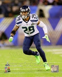 Seattle Seahawks Earl Thomas Super Bowl XLVIII Action Photo