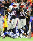 New England Patriots Jamie Collins 2013 Playoff Action Photo