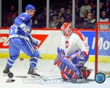 Montreal Canadiens,Quebec Nordiques Joe Sakic & Patrick Roy Action Photo