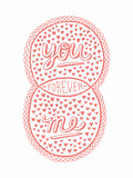 Venn by Pen: You, Me, Forever Poster Posters by  Satchel & Sage