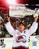 Colorado Avalanche Joe Sakic with the 2001 Stanley Cup 2001 NHL Stanley Cup Finals Photo