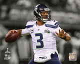 Seattle Seahawks Russell Wilson Super Bowl XLVIII Spotlight Action Photo
