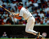 New York Yankees Wade Boggs 1993 Batting Action Photo