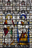 England, Salisbury, Salisbury Cathedral, Stained Glass Window, Saints Photographic Print by Samuel Magal
