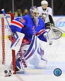 New York Rangers Henrik Lundqvist 2013-14 Action Photo