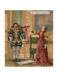 Illustration from Merchant of Venice by William Shakespeare Giclee Print by R. Andre