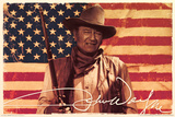 John Wayne- Flag Plakaty