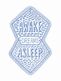 Venn by Pen: Awake, Asleep, Dreams Poster Print by  Satchel & Sage