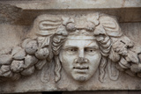 Turkey, Aphrodisias, Sebasteion, Theatrical Mask Relief Photographic Print by Samuel Magal