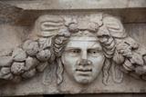 Turkey, Aphrodisias, Sebasteion, Theatrical Mask Relief Photographic Print by Samuel Magal