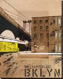Williamsburg, Brooklyn Stretched Canvas Print by Mauro Baiocco