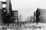 Market Street and Downtown Financial District Reduced to Rubble Photographic Print by C.R. Miller