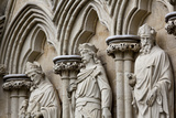 England, Salisbury, Salisbury Cathedral, West Front, Religious Marble Sculptures Photographic Print by Samuel Magal