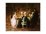 The Card Game Giclee Print by Karl Heinrich Hoff