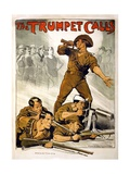 The Trumpet Calls Poster Giclee Print by Norman Lindsay
