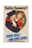Sailor Beware! Poster Giclee Print by John Falter