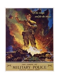 The Corps of Military Police Recruitment Poster Reproduction procédé giclée par Jes Schlaikjer