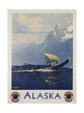 Alaska - Northern Pacific Railway Travel Poster Giclee Print by Sidney Laurence