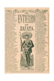 Broadside with Burial of Emiliano Zapata Giclee Print