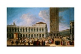 The Piazzetta and the Piazza San Marco, Venice from the Porta Dell Carta Giclee Print by Luca Carlevariis