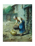 The Woman at the Well Giclee Print by Jean-François Millet