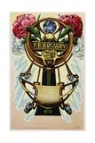 February - Pisces Postcard Giclee Print
