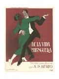 De La Vida Milonguera Tango Sheet Music Cover Giclee Print