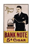 Bank Note 5 Cent Cigar Poster Giclee Print