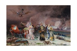A Fairy Tale: the Artist's Mother Greeted Giclee Print by Jehan Georges Vibert