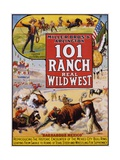101 Ranch Real Wild West Poster Reproduction procédé giclée