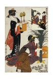 Act IV (Yodanme) from the Series the Treasury of the Loyal Retainers (Chushingura) Gicléetryck av Kitagawa Utamaro