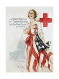 I Summon You to Comradeship in the Red Cross Poster Giclee Print by Harrison Fisher